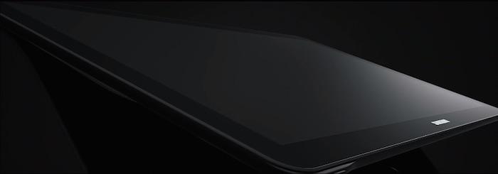 Samsung Galaxy View : vue de côté