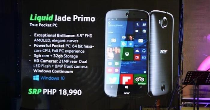Acer Jade Primo