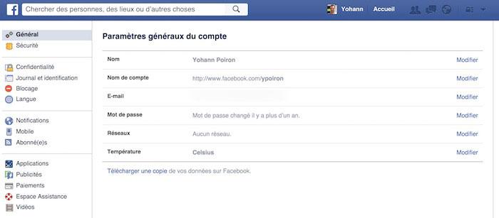 Comment faire pour sauvegarder vos données de Facebook