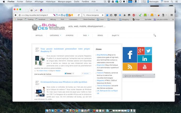 Affichage d'une fenêtre sur OS X
