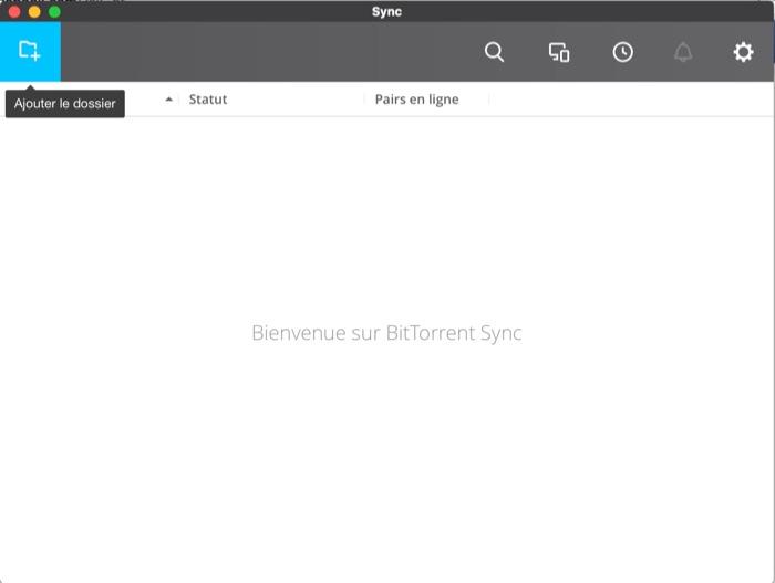 BitTorrent Sync : ajout d'un dossier