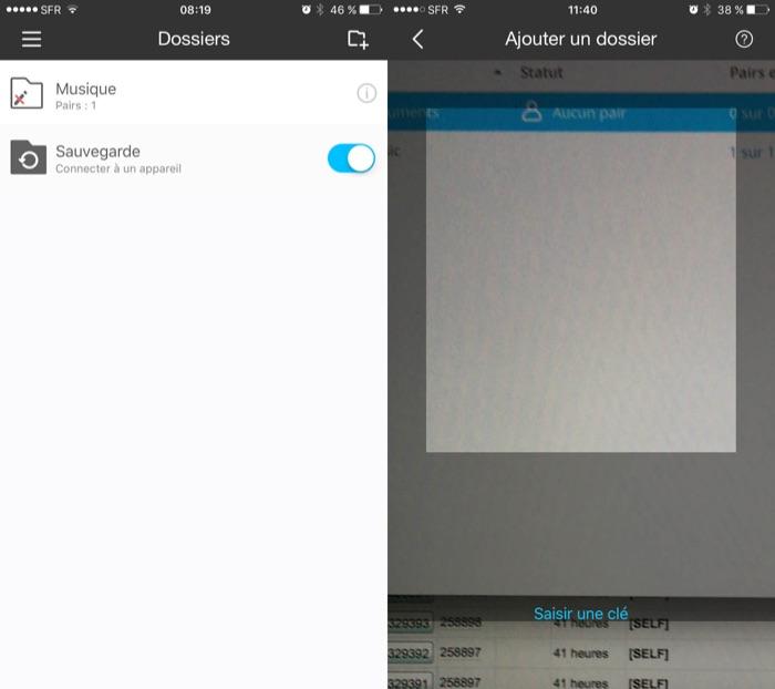 QR code de BitTorrent Sync