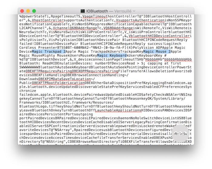 Des allusions à Magic Keyboard, Magic Mouse 2, et Magic Trackpad dans OS X