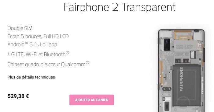 Fairphone 2 : disponible en précommande