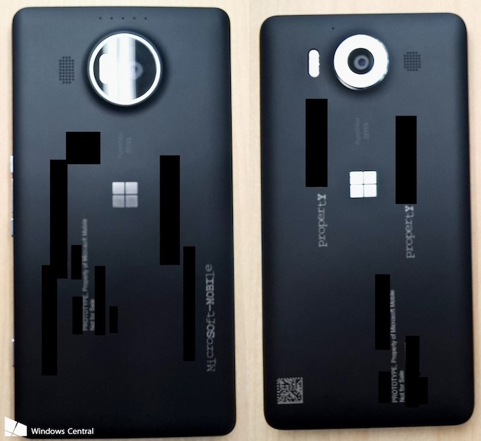 Lumia 950 et Lumia 950 XL : vue de dos
