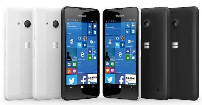 Lumia 550, 750, et 850