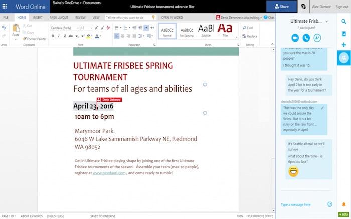 Microsoft intègre Skype dans Office Online