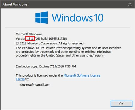 Microsoft Windows 10 (1511)