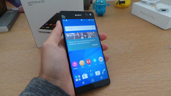 Sony Xperia C5 Ultra Dual : en main