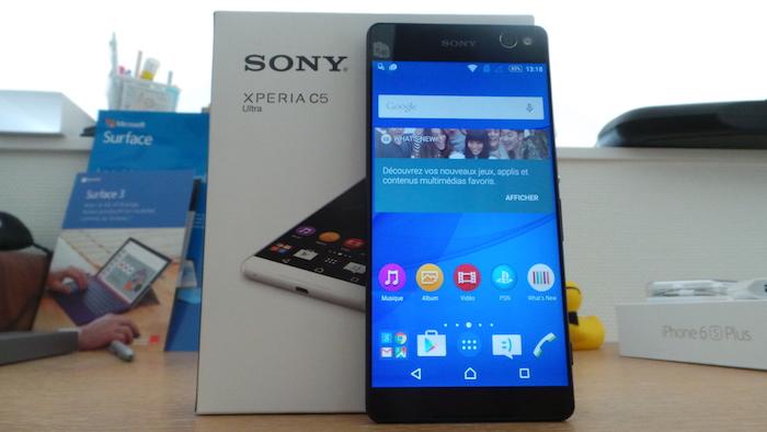 Sony Xperia C5 Ultra Dual : vue de face
