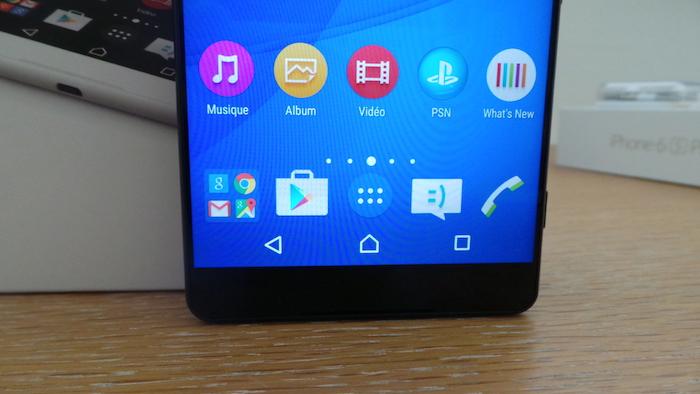 Sony Xperia C5 Ultra Dual : bouton logiciel