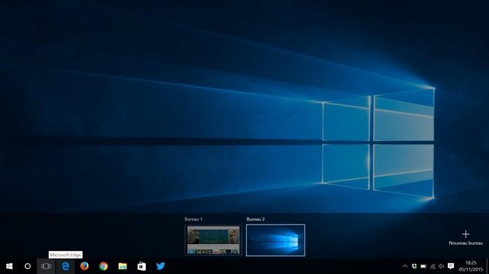 Visualisation des bureaux virtuels de Windows 10