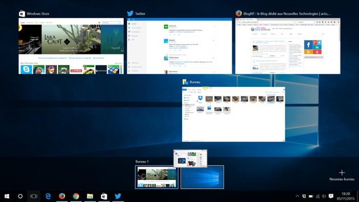 Déplacer des applications dans les bureaux virtuels de Windows 10