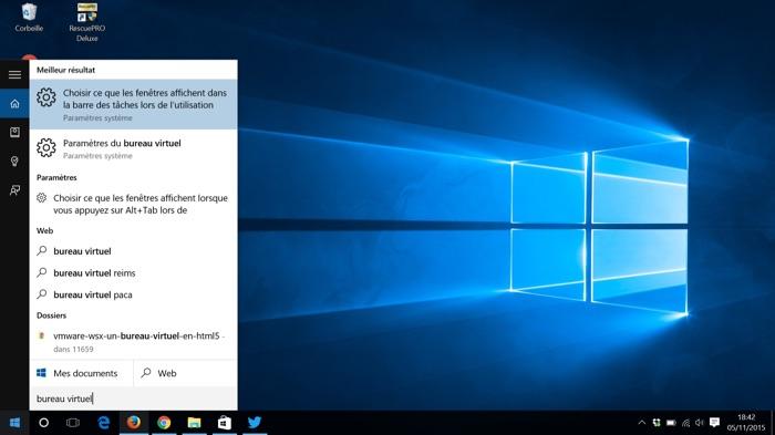 Comment utiliser les bureaux virtuels dans windows 10 - Bureau virtuel windows 7 ...