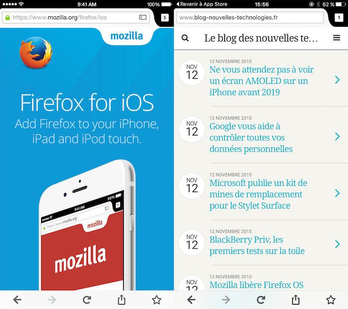 Vous pouvez maintenant utiliser Firefox sur un iPhone ou un iPad