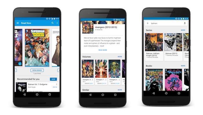 Google Play Livres va afficher des comics de tous les grands éditeurs