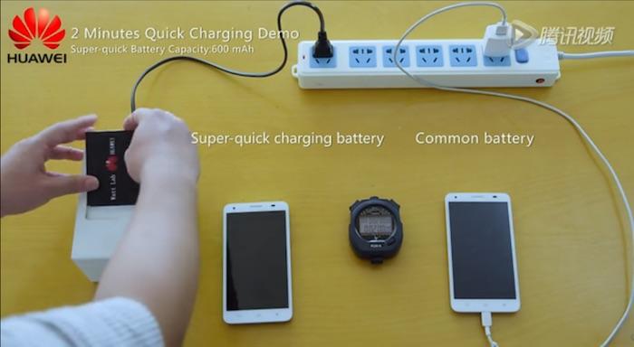 Huawei dévoile de nouvelles batteries qui se chargent en quelques minutes