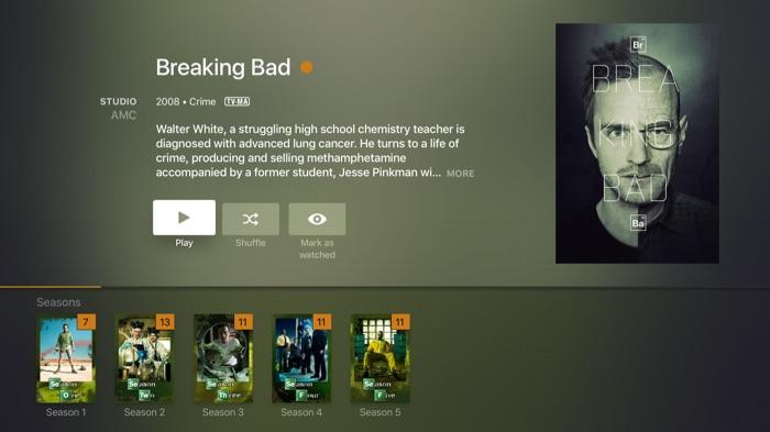 Plex sur Apple TV : détails d'un film