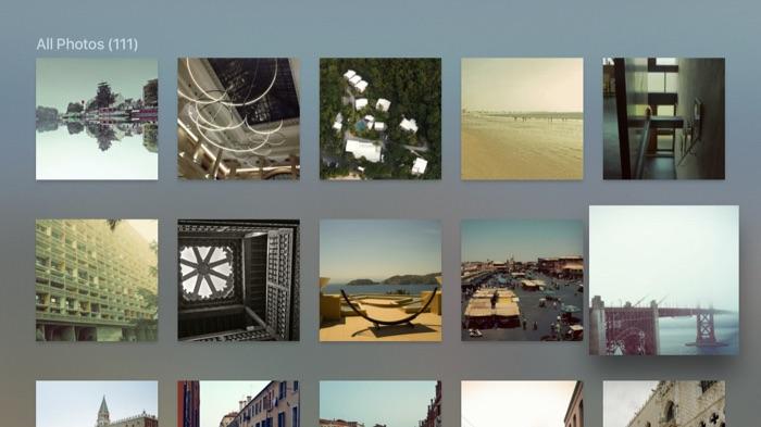 Plex sur Apple TV : vue des photos