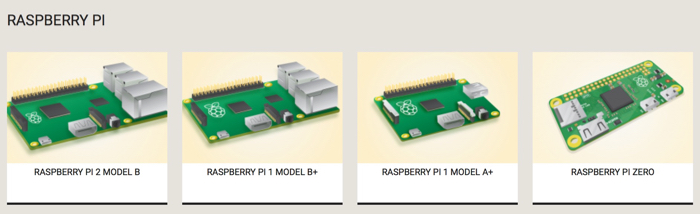 Famille de Raspberry Pi