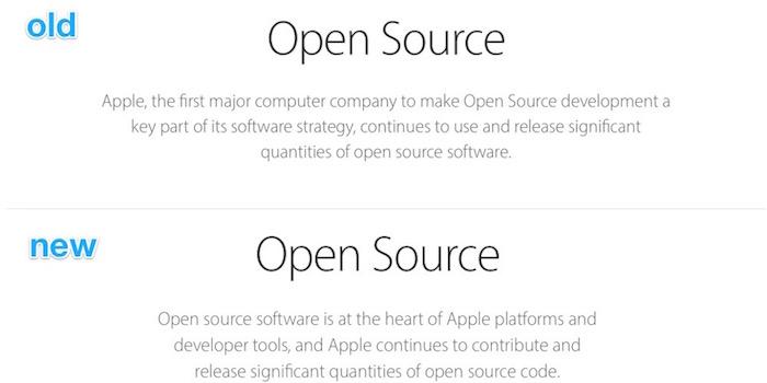 Déclaration controversée pour Apple et l'open source