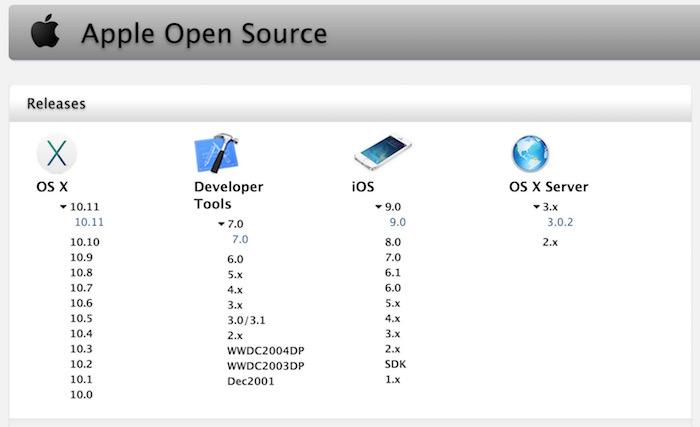 Apple pousse le code de OS X 10.11 El Capitan Darwin en open source