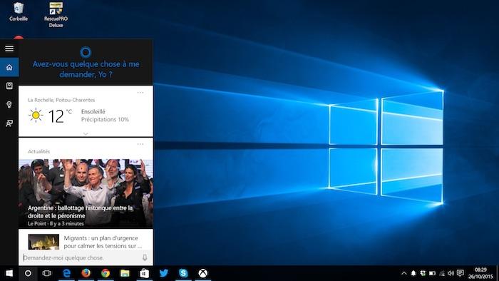 Cortana pourrait quitter la barre des tâches pour arriver sur votre bureau