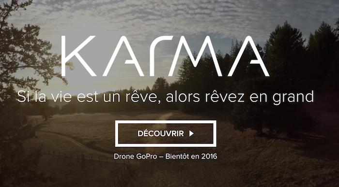Le drone de GoPro est nommé Karma, tentez d'en gagner un !