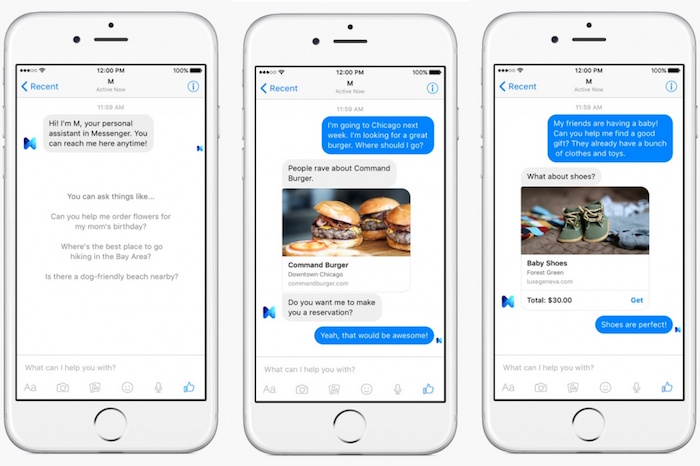 Facebook M rivalisera avec Siri, Google Now et Cortana en 2016