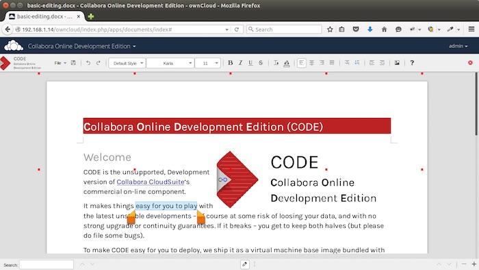 Créez votre propre suite bureautique sur le cloud avec LibreOffice, ownCloud, et CODE