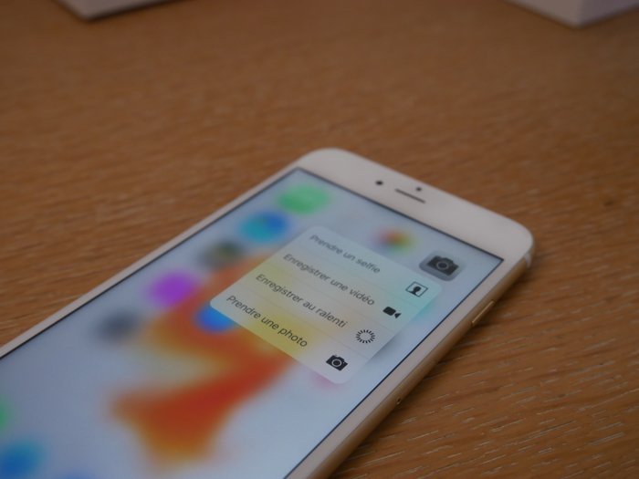 iPhone 6s Plus : technologie 3D Touch