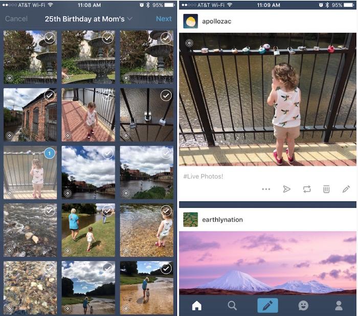 Tumblr offre un support aux Live Photos
