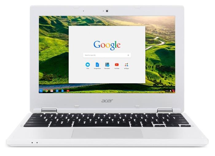 Acer Chromebook 11 CB3-131-C3SZ : vue de face