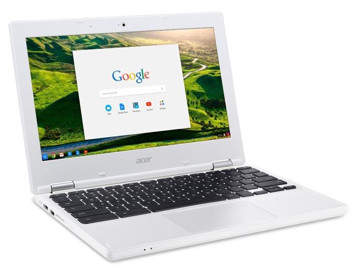 Acer Chromebook 11 CB3-131-C3SZ : vue de côté