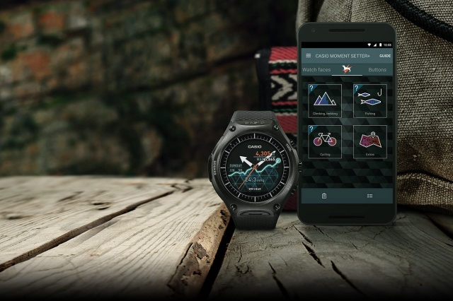Casio Smart Outdoor Watch et son application Moment Setter+