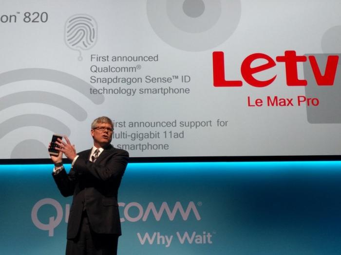 LeTV Max Pro est l'un des premiers smartphones à avoir la puce Snapdragon 820