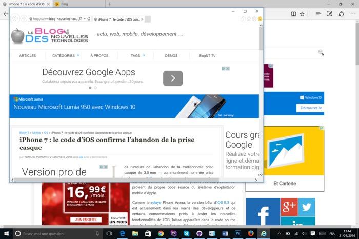 Microsoft Edge : utilisez Internet Explorer