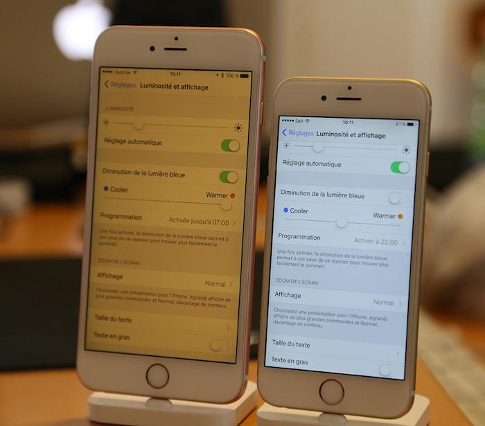 Privé de sommeil ? iOS 9.3 baisse la lumière bleue de votre iPhone