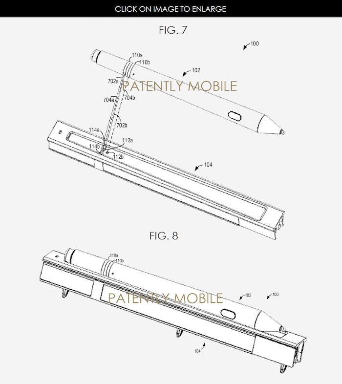 Brevet pour un dock du Surface Pen
