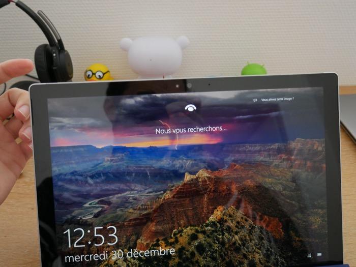 Activation de Windows Hello sur Windows 10 et la Surface Pro 4