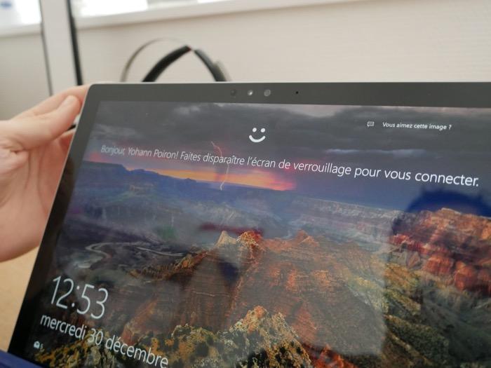 Détection de l'utilisateur grâce à Windows Hello sur Windows 10 et la Surface Pro 4
