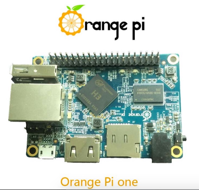 Orange Pi One : vue de dessous