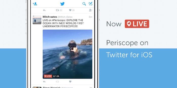 L'application Periscope désormais intégrée à Twitter sur iOS