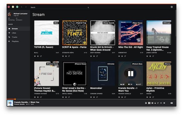 Soundnode embarque SoundCloud dans une application de bureau