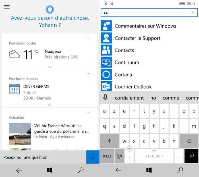 Microsoft Lumia 950 : Windows 10 Mobile