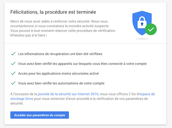 Aujourd'hui, vous pouvez obtenir 2 Go de stockage Google Drive gratuitement