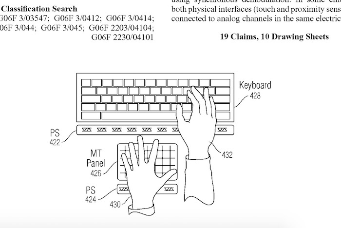 Ce brevet d'Apple pourrait vous permettre de taper sans clavier