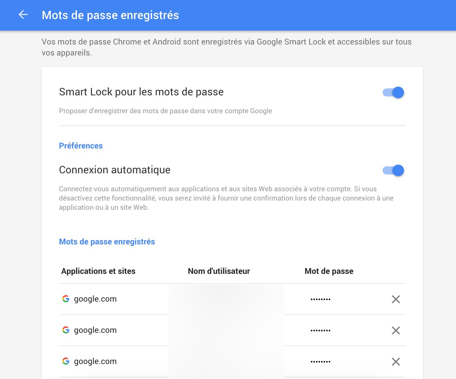 Google Passwords affiche tous vos mots de passe