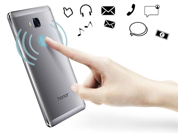 Honor 5X : capteur d'empreintes digitales