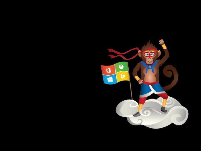 Microsoft a publié un singe ninja pour célébrer l'année du Singe